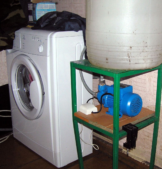 как подключить стиральную машину-автомат на даче через насос
