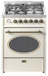 KORTING CKE 68041 CRI Газовые плита, серия РЕТРО, (электрический духовой шкаф   газовая варочная поверхность) Цвет: Слоновая кость, ручка и регуляторы - бронза, ширина 60 см.